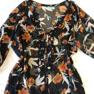 3 for $20💋Floral • Sheer • Ruffles • Blouse
